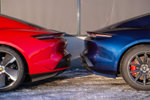 Wing side view -Red Turbo S Vs 4S